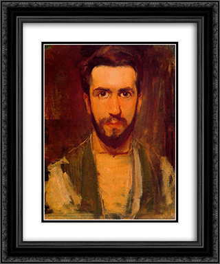 Self Portrait 20x24 Black or Gold Ornate Framed and Double Matted Art Print by Piet Mondrian