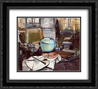 Still Life with Gingerpot 1 22x20 Black or Gold Ornate Framed and Double Matted Art Print by Piet Mondrian