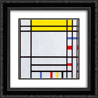 Place de la Concorde 20x20 Black or Gold Ornate Framed and Double Matted Art Print by Piet Mondrian