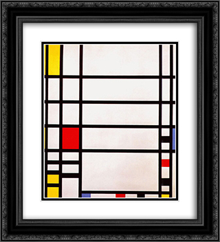 Trafalgar Square 20x22 Black or Gold Ornate Framed and Double Matted Art Print by Piet Mondrian