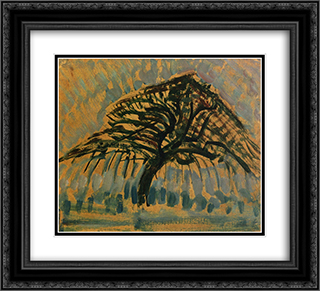 Study for Blue Apple Tree Series 22x20 Black or Gold Ornate Framed and Double Matted Art Print by Piet Mondrian