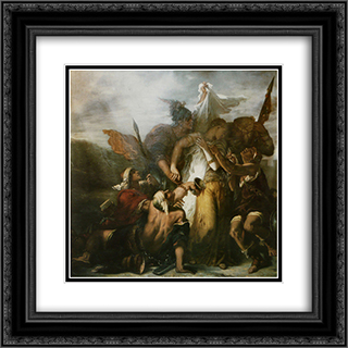 Song of songs 20x20 Black Ornate Framed and Double Matted Art Print by Gustave Moreau