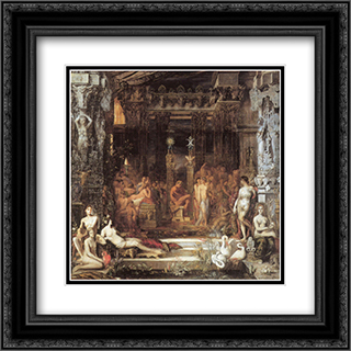 The Daughters of Thespius 20x20 Black Ornate Framed and Double Matted Art Print by Gustave Moreau