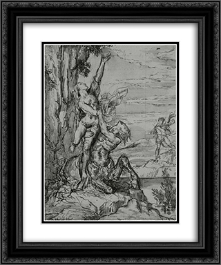 Removal Dejanira 20x24 Black or Gold Ornate Framed and Double Matted Art Print by Gustave Moreau