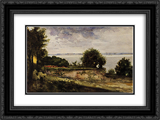 View of the Garden of Madame Aupick, Mother of Baudelaire 24x18 Black or Gold Ornate Framed and Double Matted Art Print by Gustave Moreau