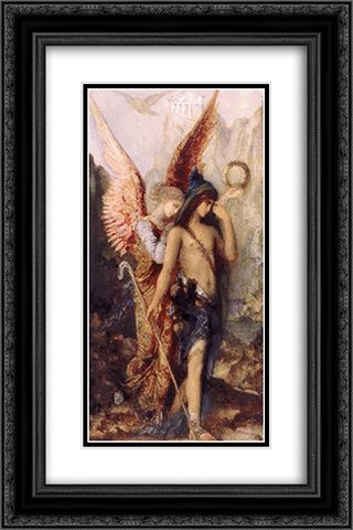 The Voices 16x24 Black or Gold Ornate Framed and Double Matted Art Print by Gustave Moreau