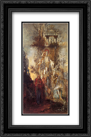 The Muses Leaving their Father Apollo to Go Out and Light the World 16x24 Black or Gold Ornate Framed and Double Matted Art Print by Gustave Moreau
