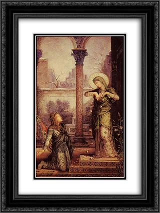 The Poet and the Saint 18x24 Black or Gold Ornate Framed and Double Matted Art Print by Gustave Moreau