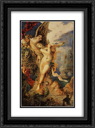 Perseus and Andromeda 18x24 Black or Gold Ornate Framed and Double Matted Art Print by Gustave Moreau