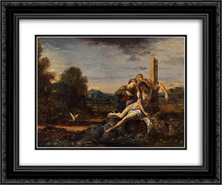 Saint Sebastian being Tended by Saintly Women 24x20 Black or Gold Ornate Framed and Double Matted Art Print by Gustave Moreau