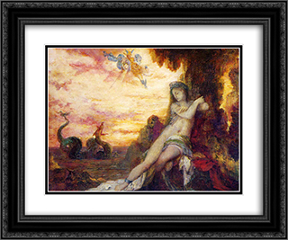Perseus and Andromeda 24x20 Black or Gold Ornate Framed and Double Matted Art Print by Gustave Moreau