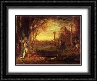 Saint Sebastian and His Executioners 24x20 Black or Gold Ornate Framed and Double Matted Art Print by Gustave Moreau