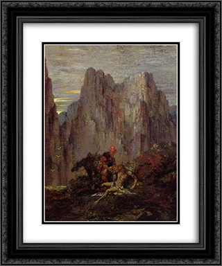The Good Samaritan 20x24 Black or Gold Ornate Framed and Double Matted Art Print by Gustave Moreau