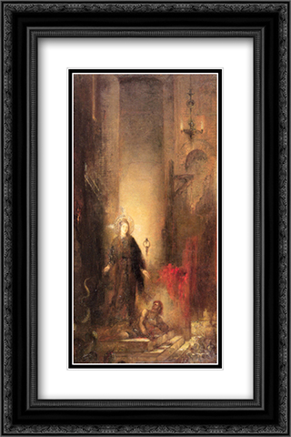 Saint Margaret 16x24 Black or Gold Ornate Framed and Double Matted Art Print by Gustave Moreau