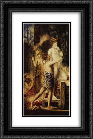 The Execution of Messalina 16x24 Black or Gold Ornate Framed and Double Matted Art Print by Gustave Moreau