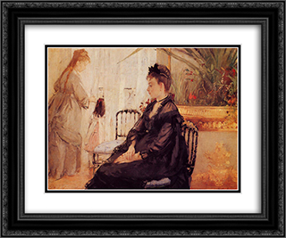 Interior 24x20 Black or Gold Ornate Framed and Double Matted Art Print by Berthe Morisot