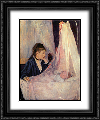 The Cradle 20x24 Black or Gold Ornate Framed and Double Matted Art Print by Berthe Morisot