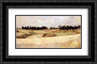 Landscape near Valenciennes 24x16 Black or Gold Ornate Framed and Double Matted Art Print by Berthe Morisot