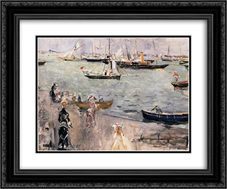 The Isle of Wight 24x20 Black or Gold Ornate Framed and Double Matted Art Print by Berthe Morisot