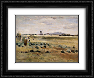 The Little Windmill at Gennevilliers 24x20 Black or Gold Ornate Framed and Double Matted Art Print by Berthe Morisot