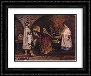 Tsar Alexei Mikhailovich 24x20 Black or Gold Ornate Framed and Double Matted Art Print by Mikhail Nesterov