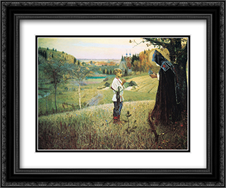 The Vision of the Young Bartholomew 24x20 Black or Gold Ornate Framed and Double Matted Art Print by Mikhail Nesterov