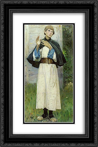 Youth of St. Sergius 16x24 Black or Gold Ornate Framed and Double Matted Art Print by Mikhail Nesterov