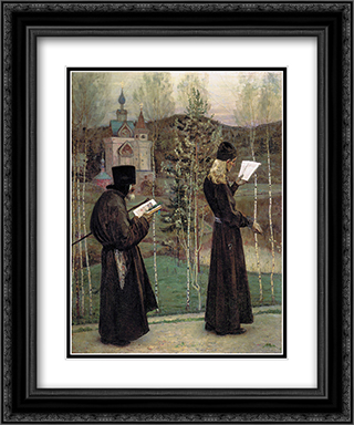 To Blagovest 20x24 Black or Gold Ornate Framed and Double Matted Art Print by Mikhail Nesterov