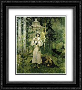 Youth of St. Sergius 20x22 Black or Gold Ornate Framed and Double Matted Art Print by Mikhail Nesterov