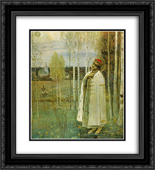 Tsarevich Dimitry 20x22 Black or Gold Ornate Framed and Double Matted Art Print by Mikhail Nesterov