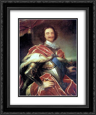 Peter I 20x24 Black or Gold Ornate Framed and Double Matted Art Print by Ivan Nikitin