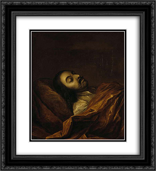 Peter I on his deathbed 20x22 Black or Gold Ornate Framed and Double Matted Art Print by Ivan Nikitin