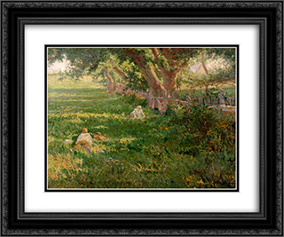 Springtime 24x20 Black or Gold Ornate Framed and Double Matted Art Print by Robert Julian Onderdonk