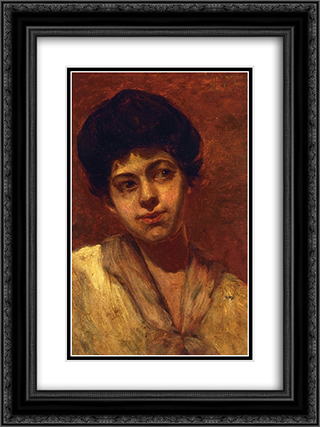 Portrait of Gertrude 18x24 Black or Gold Ornate Framed and Double Matted Art Print by Robert Julian Onderdonk