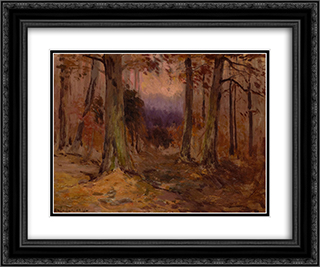 Landscape Sketch 24x20 Black or Gold Ornate Framed and Double Matted Art Print by Robert Julian Onderdonk