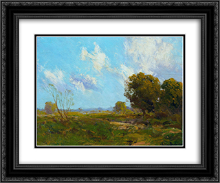 Late Afternoon 24x20 Black or Gold Ornate Framed and Double Matted Art Print by Robert Julian Onderdonk