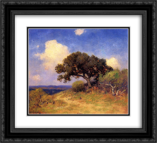 Old Live Oak 22x20 Black or Gold Ornate Framed and Double Matted Art Print by Robert Julian Onderdonk