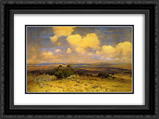 Sunlight and Shadow 24x18 Black or Gold Ornate Framed and Double Matted Art Print by Robert Julian Onderdonk