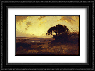 Golden Evening, Southwest Texas 24x18 Black or Gold Ornate Framed and Double Matted Art Print by Robert Julian Onderdonk