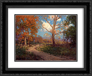 October Sunlight 24x20 Black or Gold Ornate Framed and Double Matted Art Print by Robert Julian Onderdonk