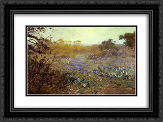 Spring Morning 24x18 Black or Gold Ornate Framed and Double Matted Art Print by Robert Julian Onderdonk