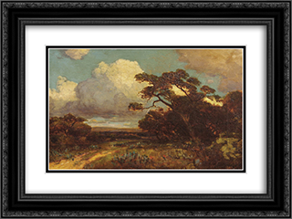 Through the Hills in SW Texas 24x18 Black or Gold Ornate Framed and Double Matted Art Print by Robert Julian Onderdonk