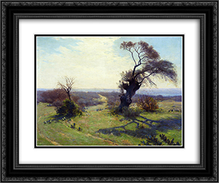 Morning in Spring 24x20 Black or Gold Ornate Framed and Double Matted Art Print by Robert Julian Onderdonk