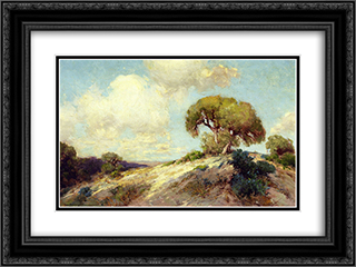 Sunlit Hillside 24x18 Black or Gold Ornate Framed and Double Matted Art Print by Robert Julian Onderdonk