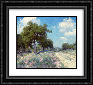Road through the Trees 22x20 Black or Gold Ornate Framed and Double Matted Art Print by Robert Julian Onderdonk