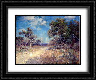 Road to the Hills 24x20 Black or Gold Ornate Framed and Double Matted Art Print by Robert Julian Onderdonk