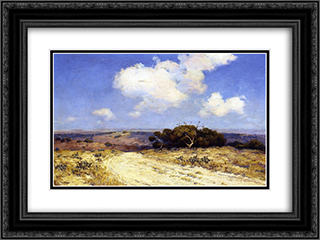 Southwest Texas 24x18 Black or Gold Ornate Framed and Double Matted Art Print by Robert Julian Onderdonk