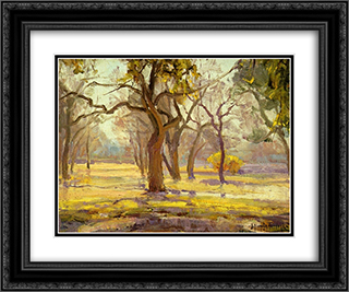 Sunlight after Rain 24x20 Black or Gold Ornate Framed and Double Matted Art Print by Robert Julian Onderdonk