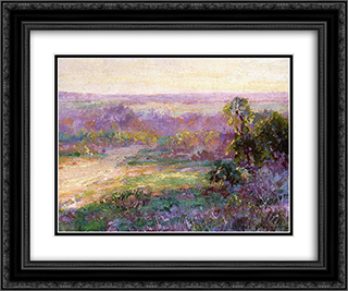 Last Rays of Sunlight, Early Spring in San Antonio 24x20 Black or Gold Ornate Framed and Double Matted Art Print by Robert Julian Onderdonk