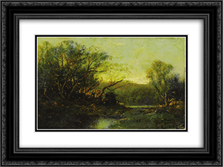 Autumn Landscape 24x18 Black or Gold Ornate Framed and Double Matted Art Print by Robert Julian Onderdonk